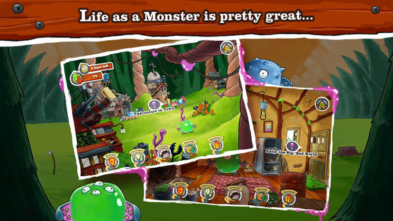 Become a monster and decide the fate of monsterkind with your choices in Monster Loves You on iOS and Android