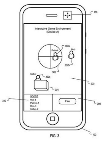 Apple patents location-aware iPhone laser tag