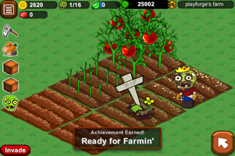 Freemium iOS dig-'em-up Zombie Farm updated with 2 new invasions