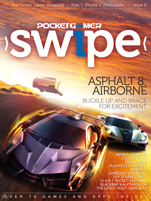 Swipe - The Pocket Gamer Magazine wins big at Digital Magazine Awards 2013