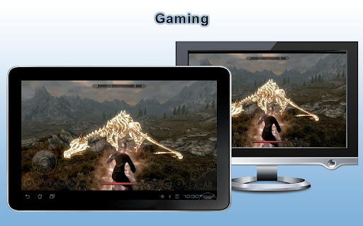 Download the Splashtop THD remote desktop app and play Skyrim on your Android-powered tablet