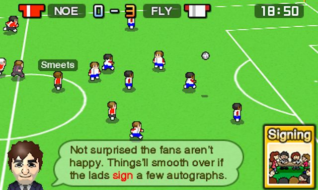 Cute management sim Nintendo Pocket Football Club is trained up and out now on 3DS