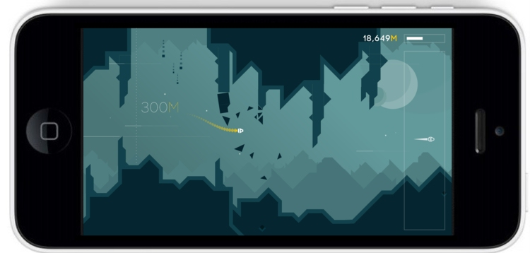 Alone is a gorgeous sharp-edged one-finger dodger that's set to hit iOS and Android this week