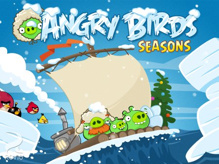 The Christmas update for Rovio's Angry Birds Seasons is now live on Android and iOS