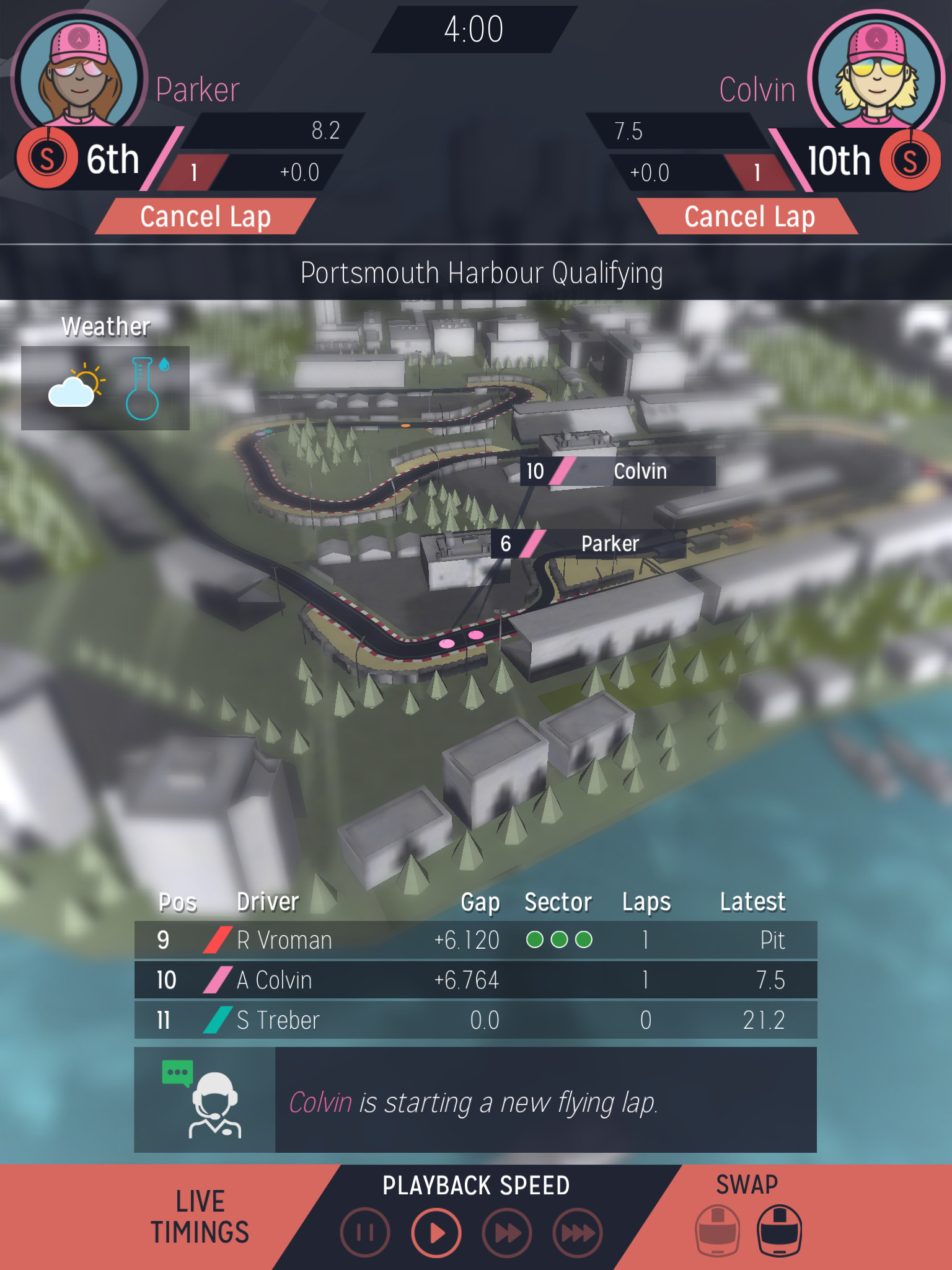 Tackle the circuit in Motorsport Manager, currently available for free