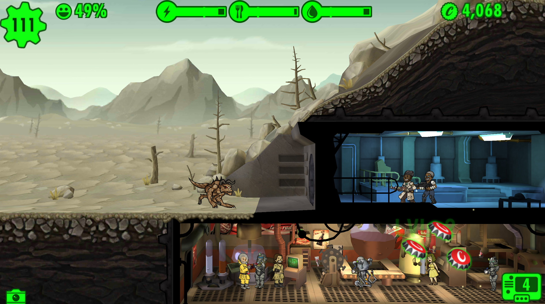Fallout Shelter cheats and tips - Expanding and populating your vault