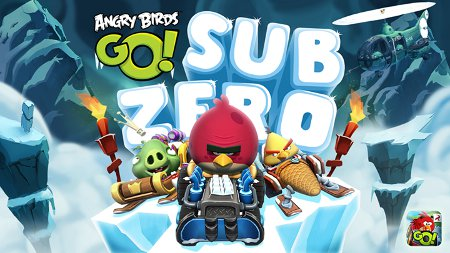 Angry Birds Go! has been updated with some frozen tracks and new challenges for iOS, Android, and Windows Phone