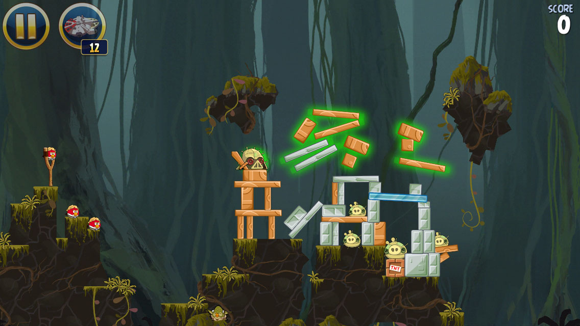 Angry Birds Star Wars, as well as every other iOS and Android Star Wars game, is no longer part of the Star Wars canon