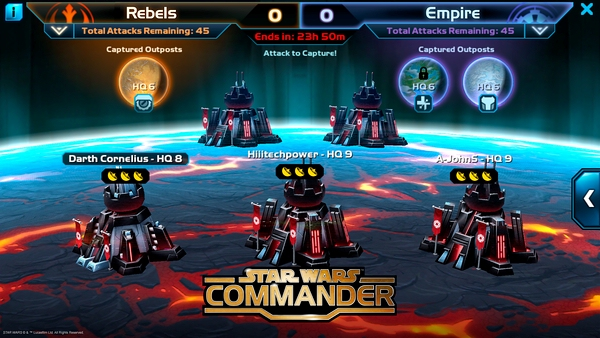 Squad-based competition gets unique twist in new Star Wars: Commander update