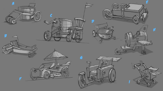 Behind-the-scenes look at the karts and track objects of Angry Birds Go!