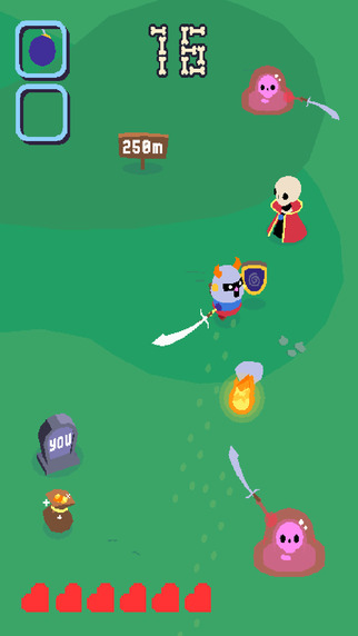 Out now: Go Home Dizzy gets you spinning through a gauntlet of pesky skeletons