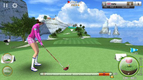 GolfStar's graphics are so realistic, you'll want to hire a caddy to haul your iPhone around for you