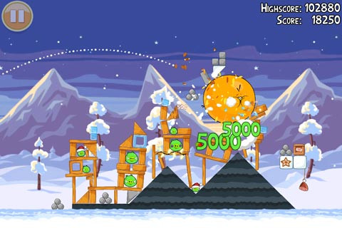 Angry Birds Seasons on iPhone and iPad gains unlockable advent calendar levels in Wreck the Halls update