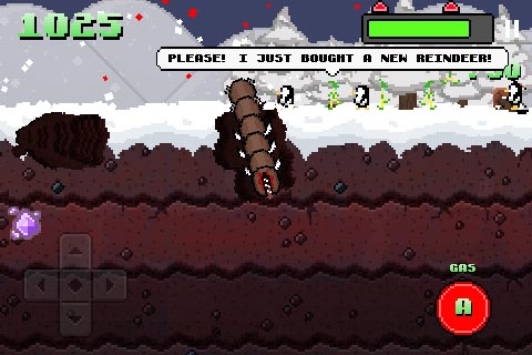 Free iPhone game: Super Mega Worm vs. Santa