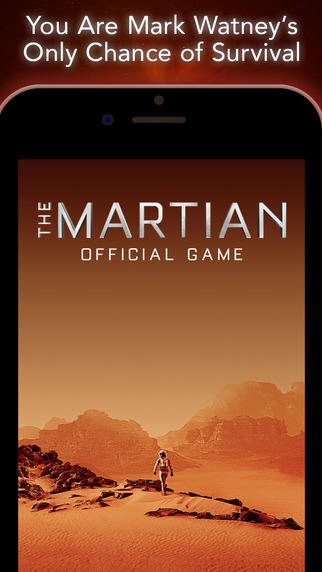 Matt Damon's new film The Martian gets its own mobile game, and it's a Lifeline rip-off