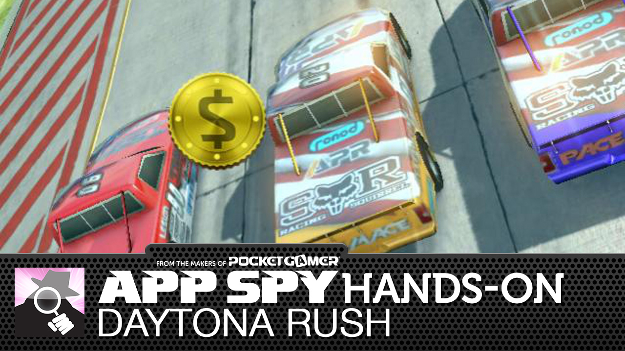 Daytona Rush is a bright and breezy endless racer, and this is what it looks like in motion