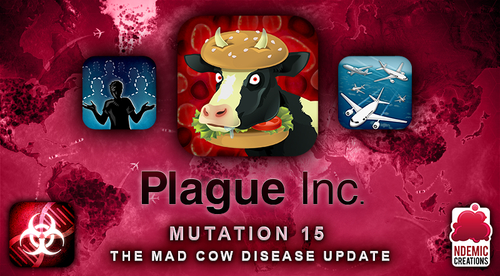 Mad Cow Disease will soon be coming to Plague Inc. on iOS and Android