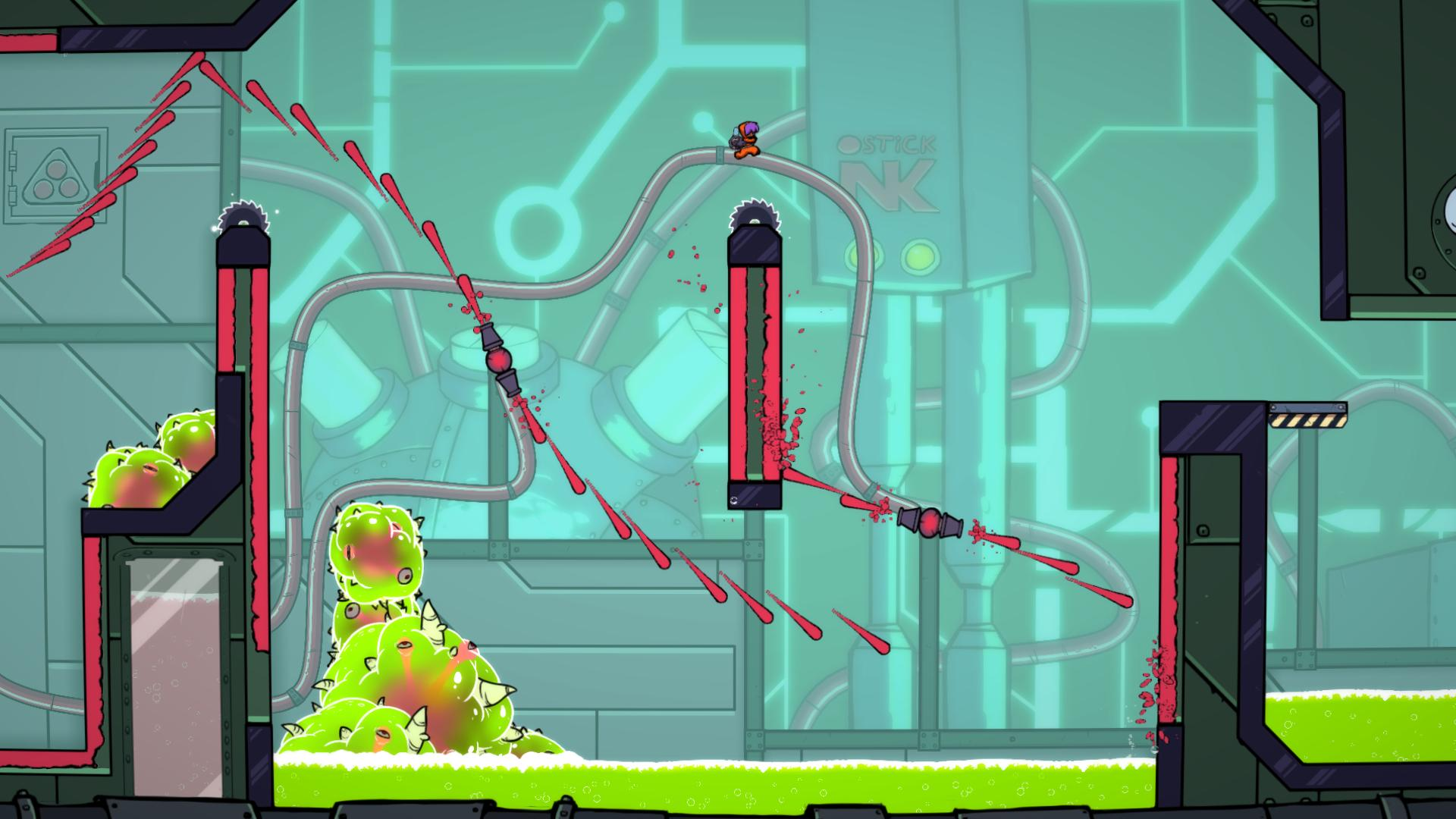 Paint the world red in challenging platformer Splasher, coming to Nintendo Switch on the 26th