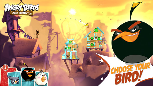 Angry Birds Under Pigstruction has multi-stage levels, a competitive Arena, and boss fights