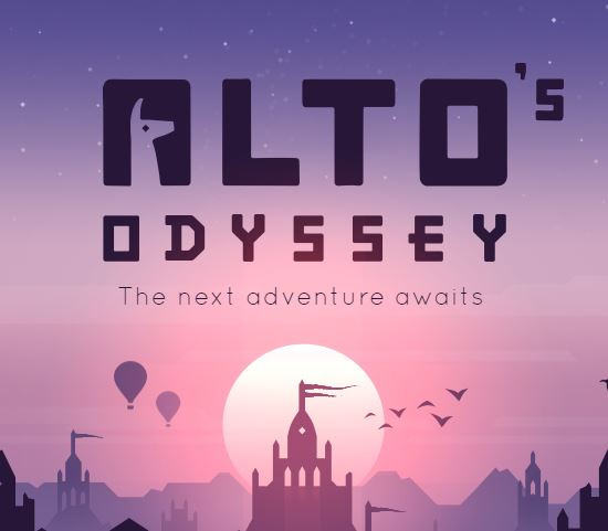 The stunning endless runner Alto's Odyssey features air balloons, desert winds, and wall-riding