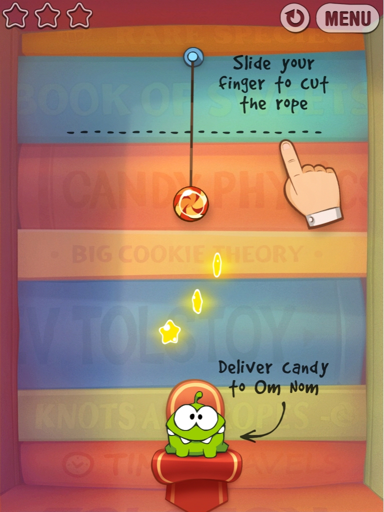 The new Cut the Rope: Experiments update is full of bugs