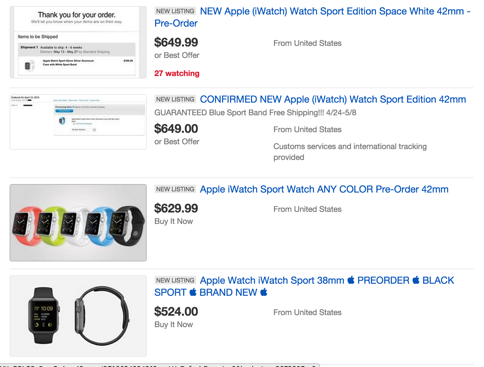 Apple Watch pre-orders sell out for April and May