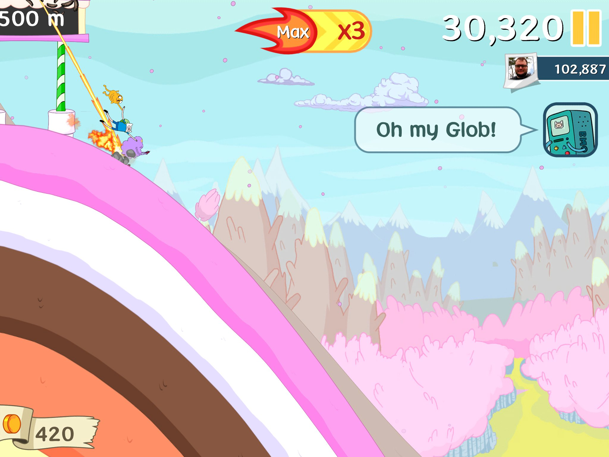 Ski Safari: Adventure Time iPhone, screenshot 1