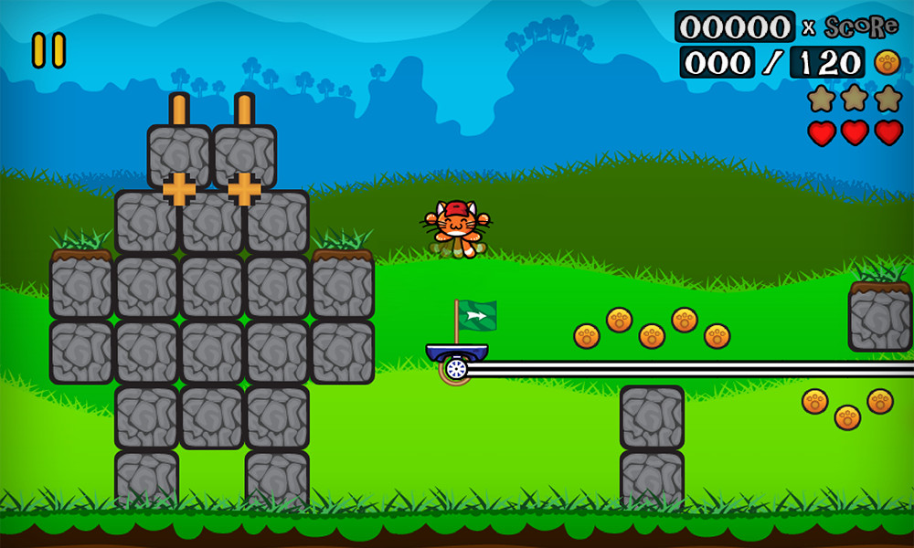 Kitten Challenge is a surprisingly difficult mash-up of platforming ideas that's out right now for Android