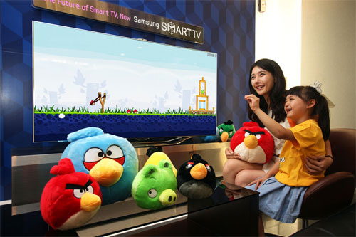 Play Angry Birds with gesture controls on Samsung Smart TV later this month