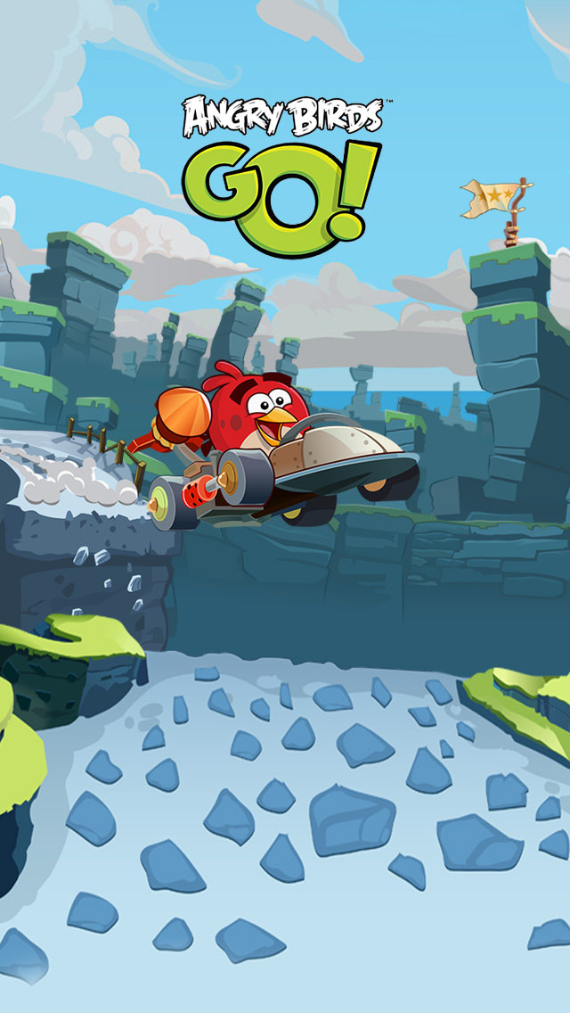 Angry Birds Go  wallpaper for iPhone 5  640x1136 Angry Birds Go Wallpaper