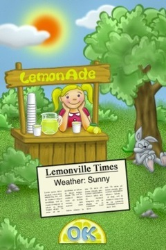 Apple II classic Lemonade Stand setting up on iPhone