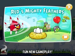 Fling a super-powered Red Bird at oncoming waves of evil pigs in updated Angry Birds