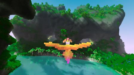 The colourful voxel flight sim Fugl launches on Steam Early Access this September, and mobile's still on the way