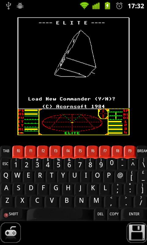 BBC Micro emulator optimised for the Xperia Play