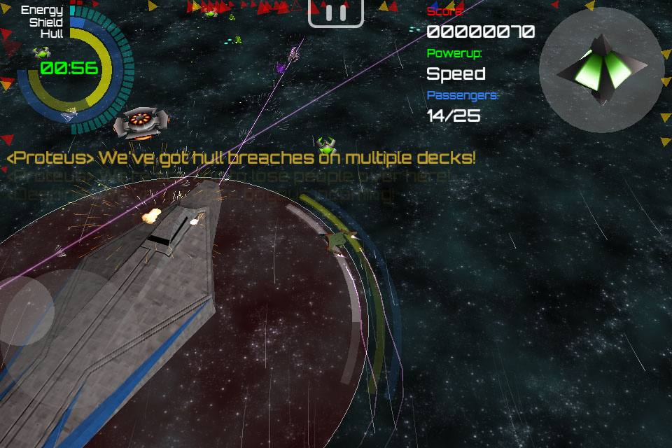 iOS space shooter Red Nova gains mercy mission with content update