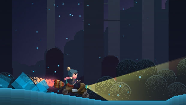 Summer Catchers follows a girl's journey through a mystical pixel-art forest