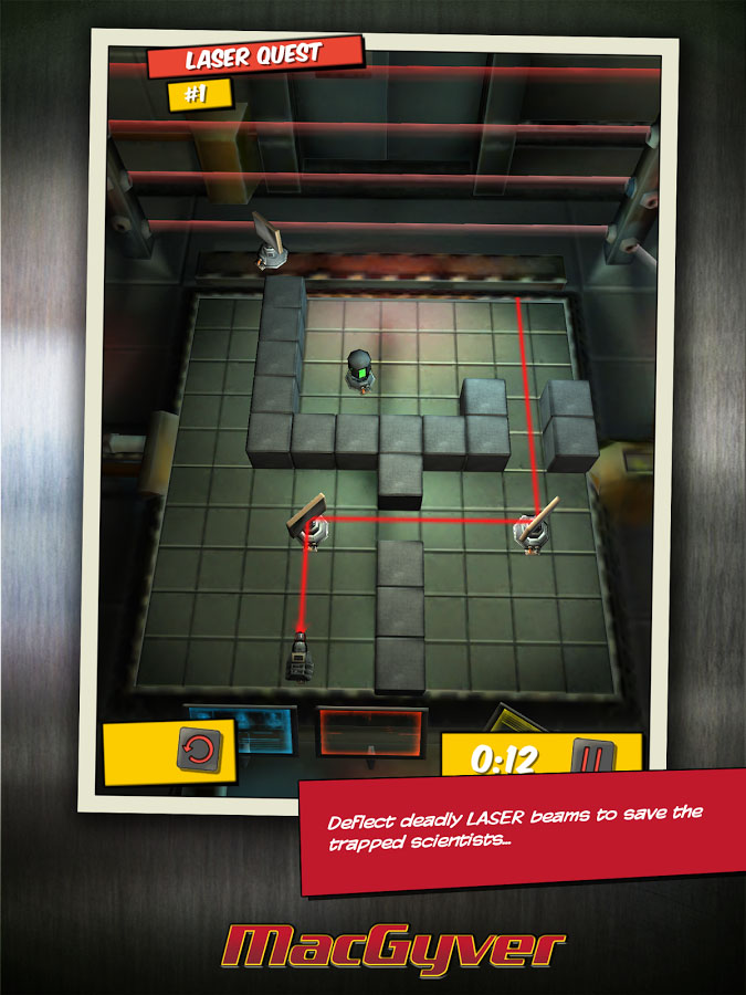 Meanwhile, MacGyver solves puzzles in a lift shaft in Deadly Descent for iOS and Android