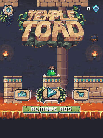 Temple Toad is an endless hopper with a clever platforming mechanic