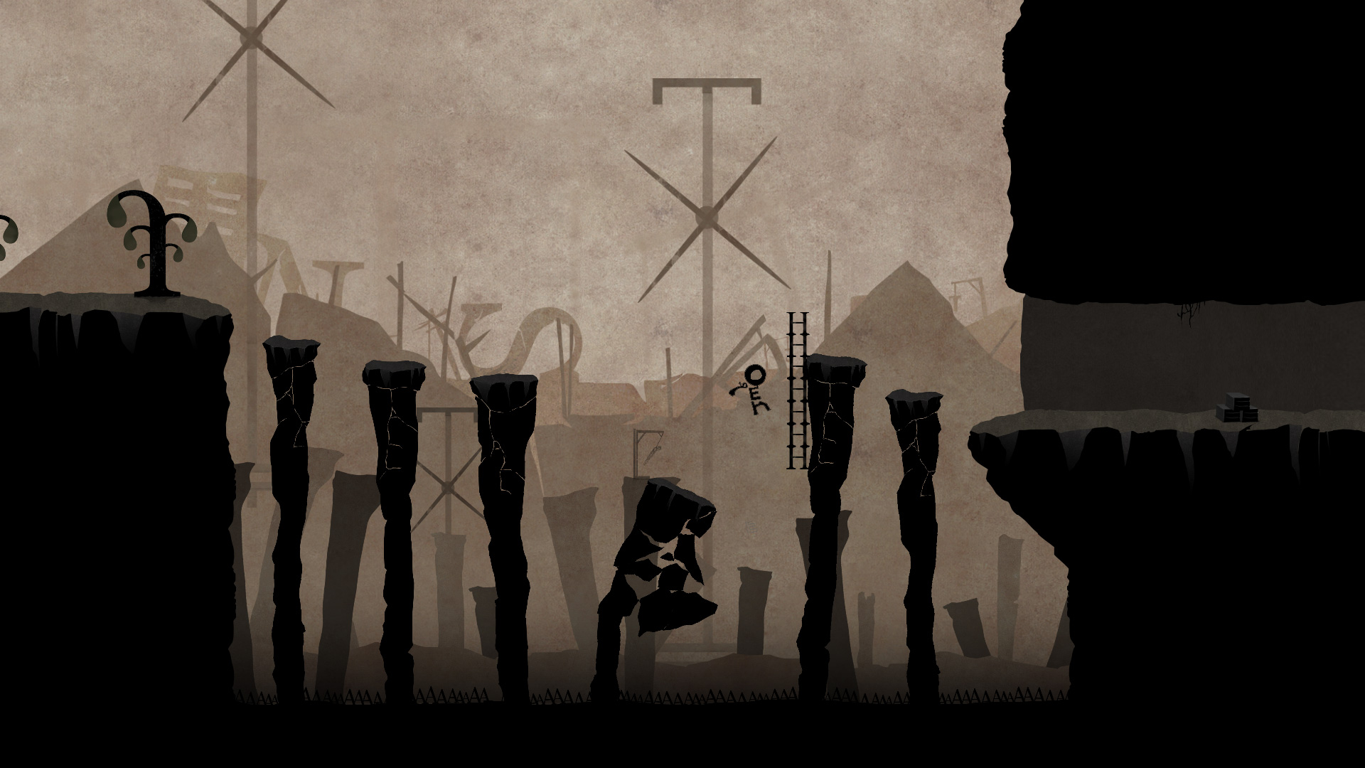 Typoman's dark world is made of letters that you'll have to sort into words to survive