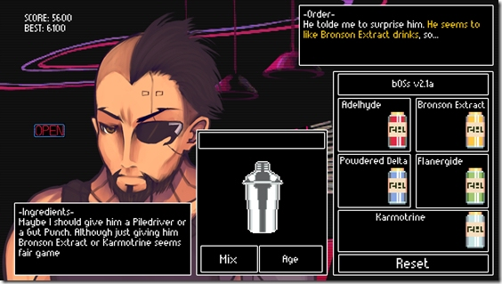 Cyberpunk bartending adventure VA-11 HALLA arrives on PS Vita next week