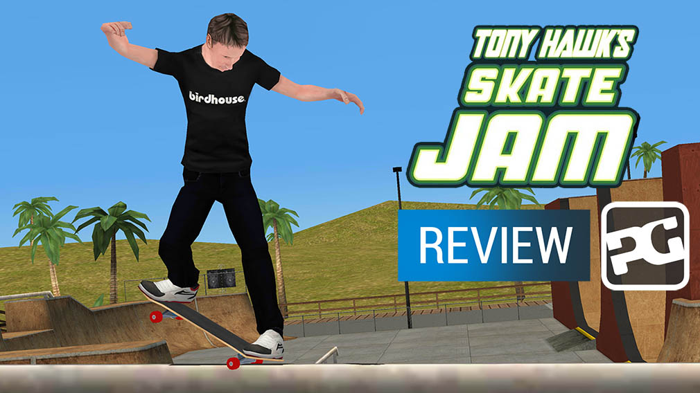 "Tony Hawk's Skate Jam video review - ""Wobbles along on loose bearings"""