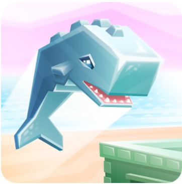 Smash evil alien invaders with your massive whale body in Ookujira - Giant Whale Rampage