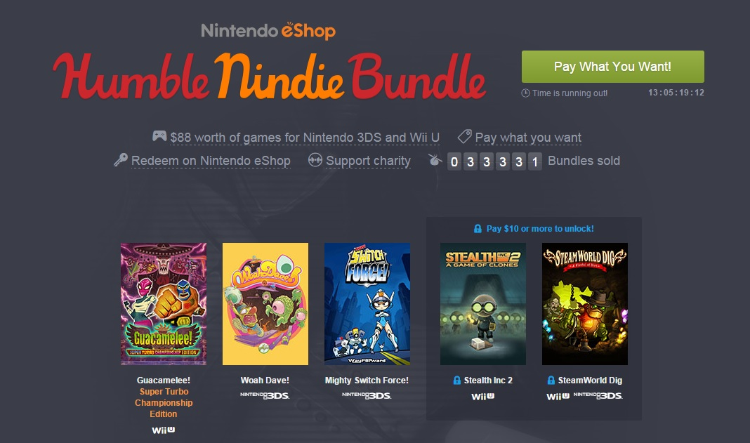 The Humble Nindie Bundle has 3DS games for cheap, but only for Americans