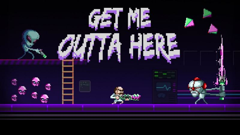 The retro arena shooter Get Me Outta Here launches on iPhone and iPad alongside a totally 80s trailer