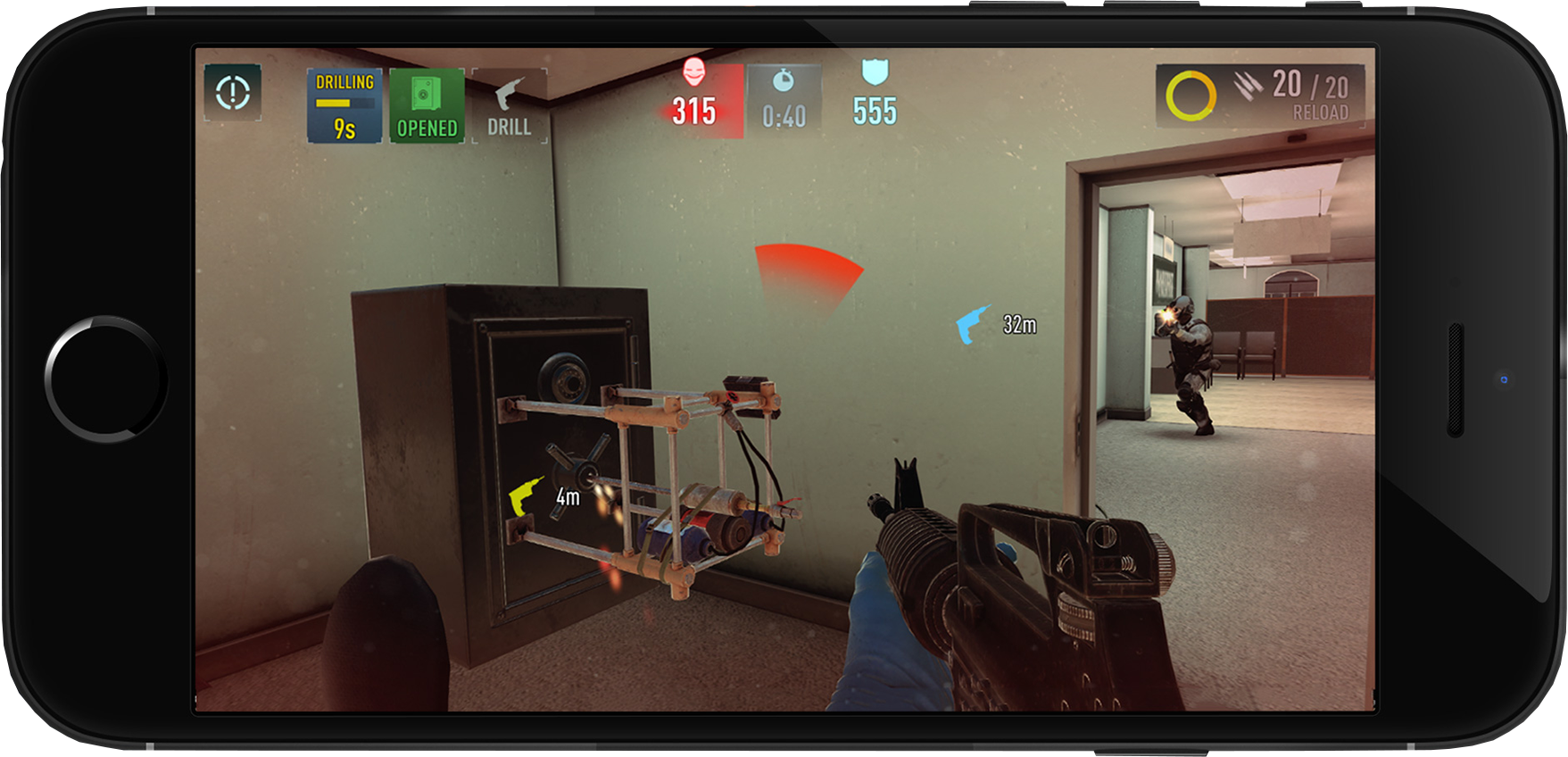 Get your first look at FPS Payday: Crime War running on mobile, coming soon