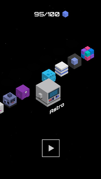 Out at midnight: Cube Jump - Crossy Road in space