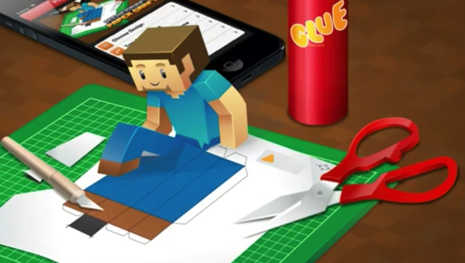How to build a Minecraft model with the Minecraft Papercraft Studio app