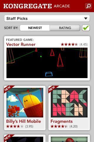 Kongregate Arcade back on Android Market