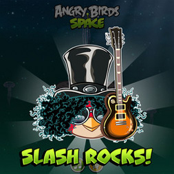 Rock god Slash records new version of Angry Birds Space theme