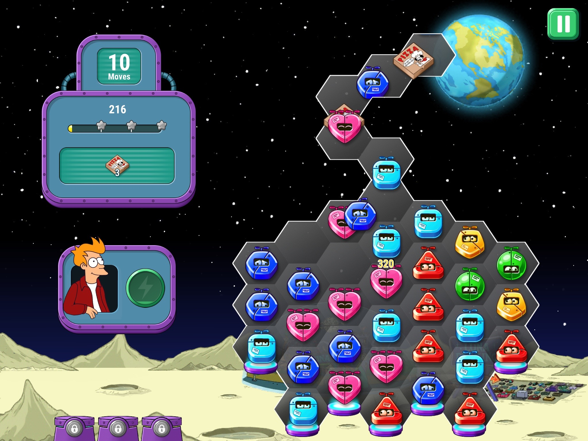 Futurama: Game of Drones - A decent match four puzzler and a great Futurama episode